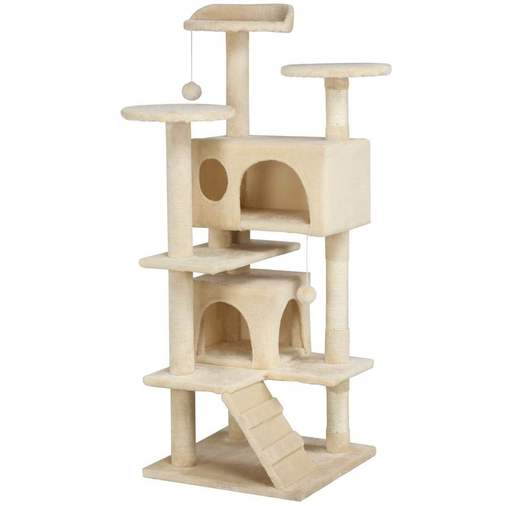 "Yaheetech 51"" Cat Tree Tower Condo Furniture Scratch Post for Kittens Pet House Play"