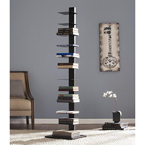 Southern Enterprises AMZ3949ZH Spine Tower Shelf-Black