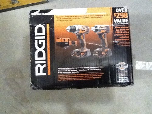 Ridgid R9600 X4 Hyper 18V Cordless Lithium-Ion 1/2 in. Drill Driver and Impact Driver Combo Kit