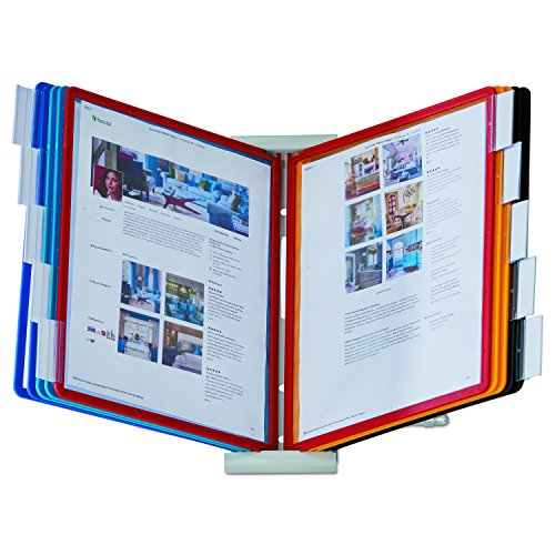DURABLE Desktop Reference System, 10 Double-Sided Panels, Letter-Size, Assorted Colors, INSTAVIEW Design (561200)