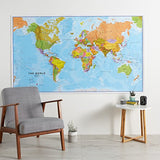 Maps International - Giant World Map - Mega-Map Of The World - 78 x 48 - Full Lamination
