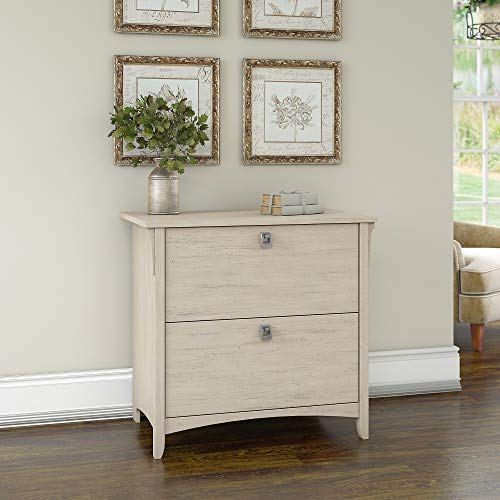 Bush Furniture Salinas Lateral File Cabinet in Antique White