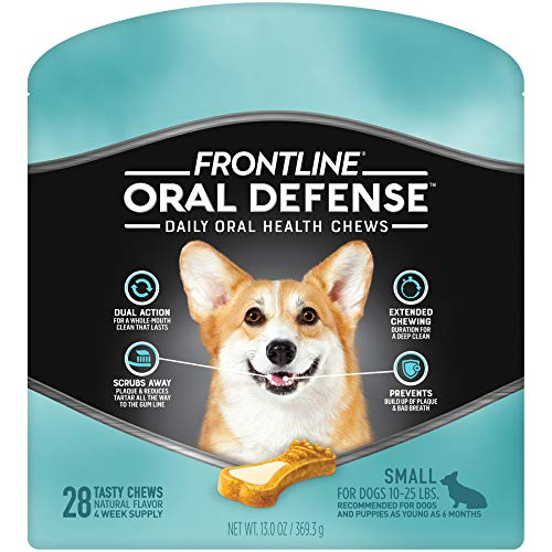 FRONTLINE Oral Defense Daily Oral Health Chews for Small Dogs (10-25 lb) 28 Chews