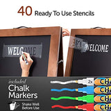 Chalk Board A-Frame Chalkboard Sign - Blackboard Chalk 40 x 22 Chalk Boards with Frame - Menu Board A Frame Sign Board Sandwich Board Sidewalk Sign Large Chalkboard Easel Brown Chalkboard Signs