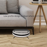 ILIFE V3s Pro Robotic Vacuum, Pet Hair Care, Powerful Suction Tangle-free, Slim Design, Auto Charge, Daily Planning, Good For Hard Floor and Low Pile Carpet