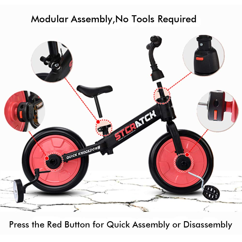 Cycling Attachments Kids Auxiliary Training Side Wheels Bicycle Tool Parts Set
