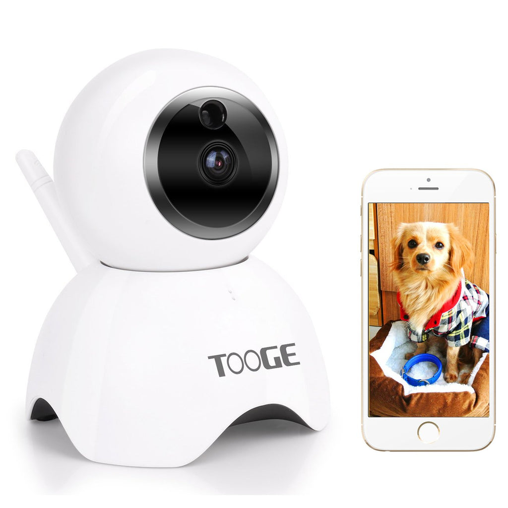 TOOGE Pet Camera, Dog Camera FHD Pet Monitor Indoor Cat Camera Night Vision 2 Way Audio and Motion Detection(Updated)