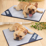 Uheng Pets Dogs Self Cooling Pad Chillz Mat Blanket - Summer Cats Breathable Sleep Bed Couch for Home and Travel - Prevent Overheating and Dehydration for Kennels, Crates, Chair, Floor
