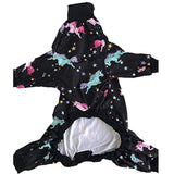 Tooth & Honey Big Dog Pajamas/Unicorn Dog Pajamas/Lightweight Pullover Pajamas/Full Coverage Dog pjs (Medium) Please Read Size Chart Before Ordering