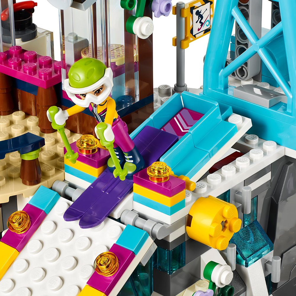 LEGO Friends Snow Resort Ski Lift 41324 Building Kit (585 Pieces)