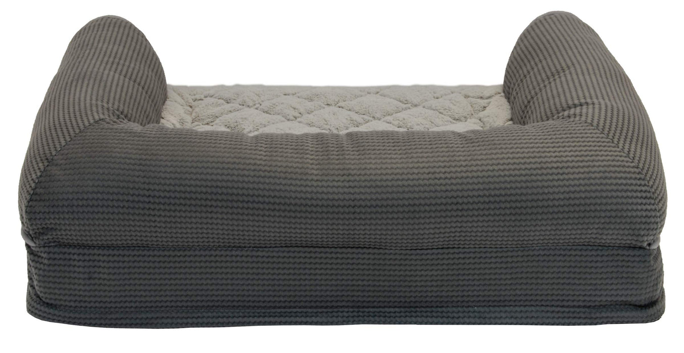 Groovy Sealy Ultra Plush Sofa Style Bolster Dog Bed Gray Small Orthopedic Foam Pet Bed With Machine Washable Plush Cover Inzonedesignstudio Interior Chair Design Inzonedesignstudiocom