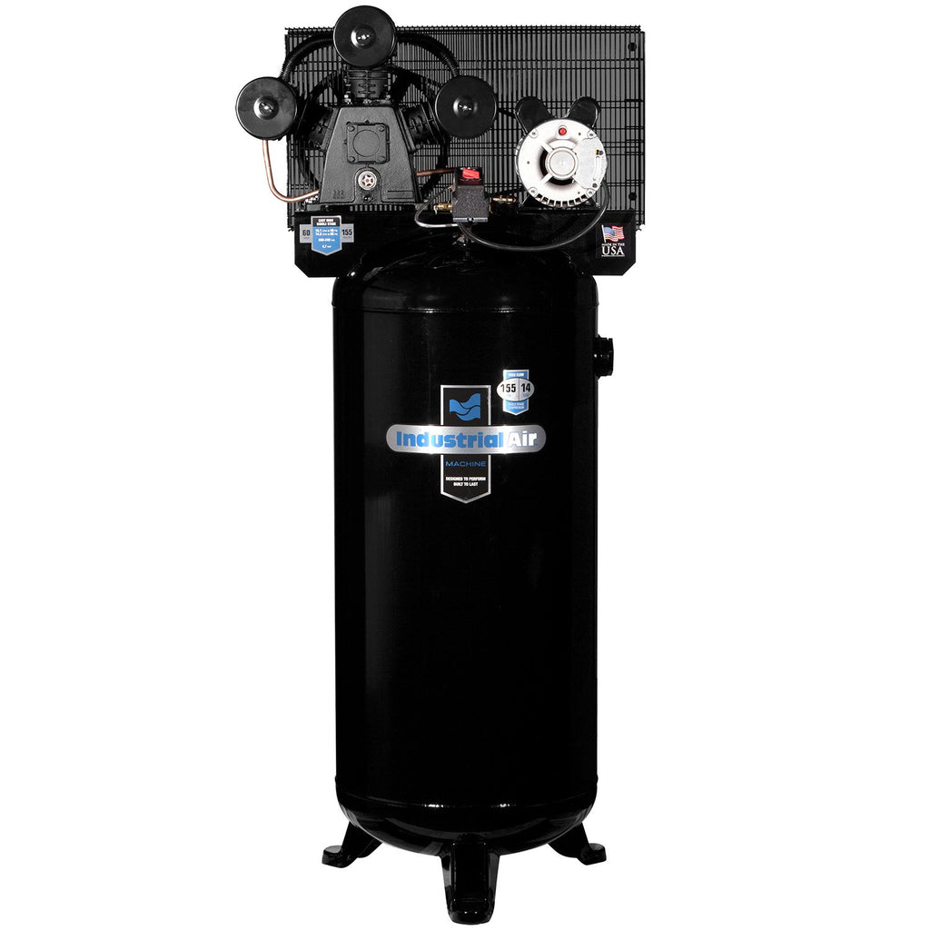 Industrial Air ILA4546065 60-Gallon Hi-Flo Single Stage Cast Iron Three Cylinder Air Compressor