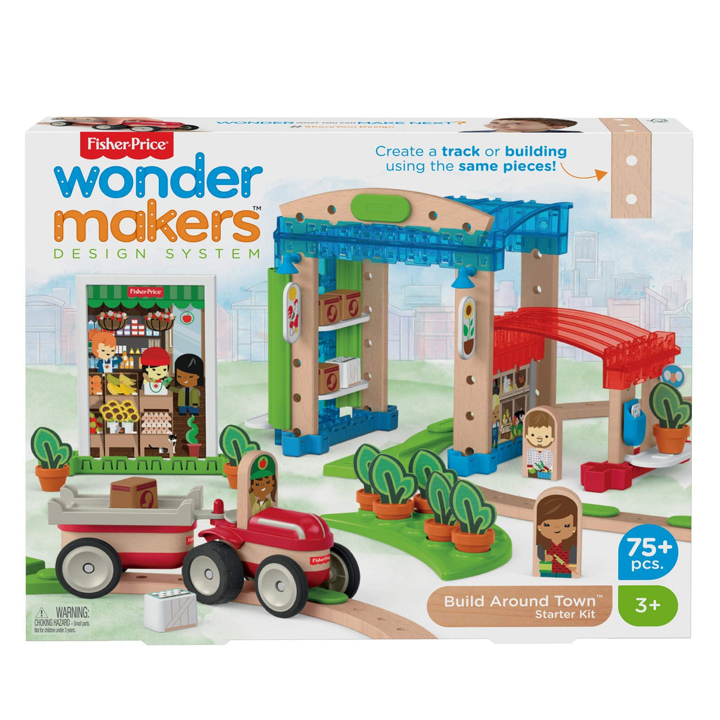 Fisher Price Wonder Makers Design System Build Around Town Starter Kit Wufair
