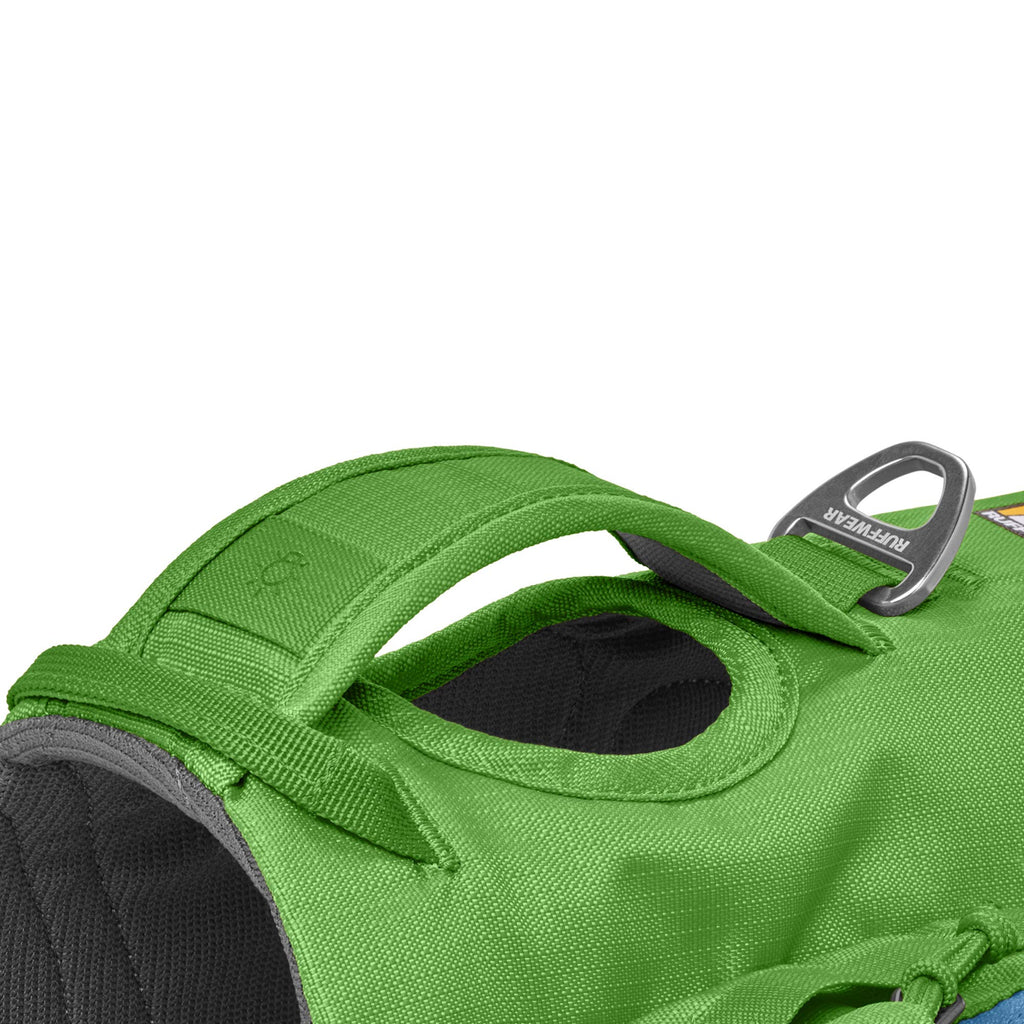 RUFFWEAR Hiking Pack for Dogs, Very Small Breeds, Adjustable Fit, Size: X-Small, Meadow Green, Approach Pack, 50102-345S1