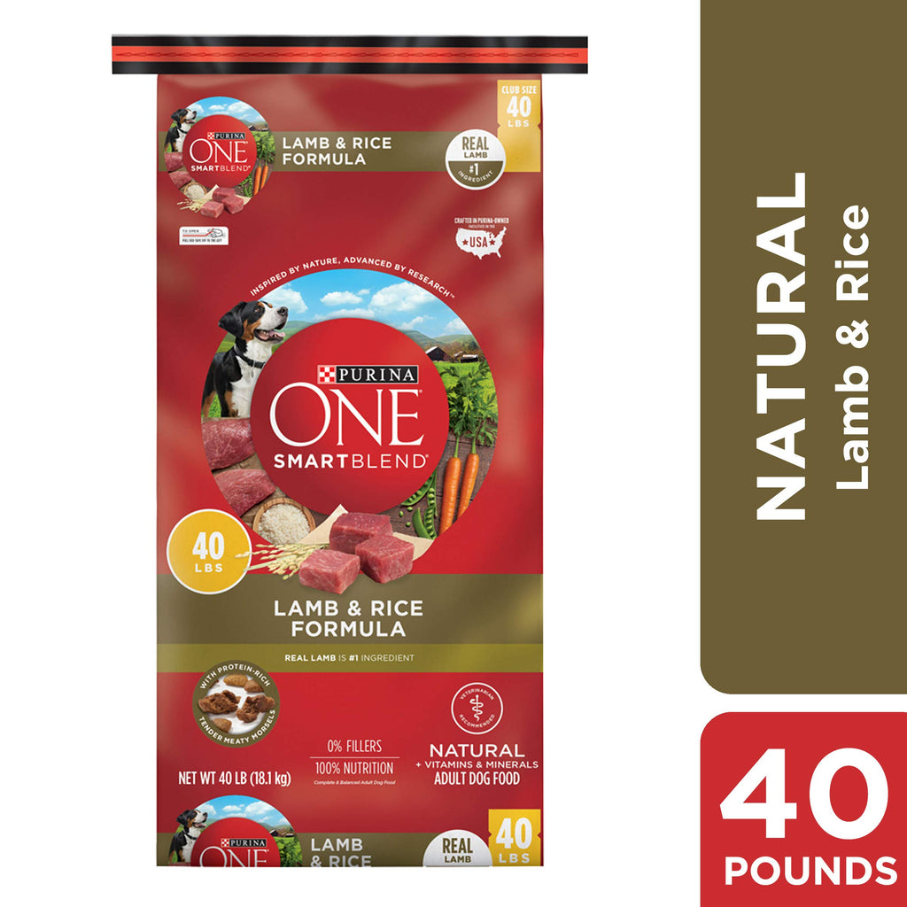 Purina ONE Natural Dry Dog Food; SmartBlend Lamb & Rice Formula - 40 lb. Bag