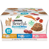 Purina Beneful Small Breed Wet Dog Food Variety Pack; IncrediBites - (27) 3 oz. Cans