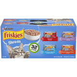 Purina Friskies Gravy Wet Cat Food Variety Pack; Savory Shreds - (32) 5.5 oz. Cans