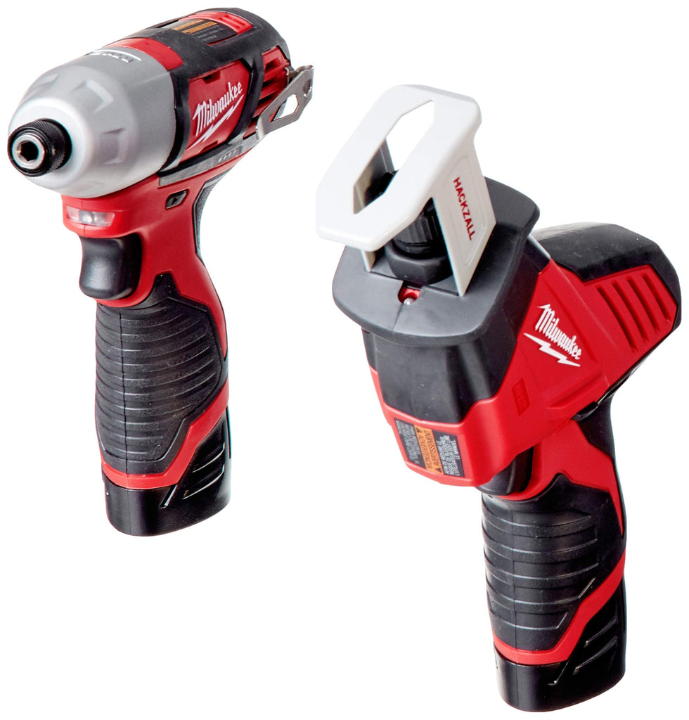 Milwaukee 2498-25 M12 12-Volt Lithium-Ion Cordless Combo Kit (5-Tool) with (2) 1.5Ah Batteries, Charger and Tool Bag