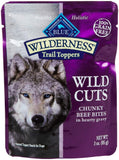 Blue Buffalo Wilderness Trail Toppers Chunky Beef Bites Dog Food, 24 By 3 Oz.