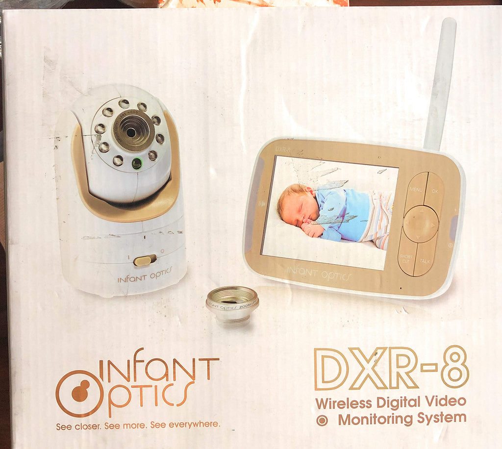 Infant Optics DXR-8 Video Baby Monitor with Interchangeable Optical Lens White
