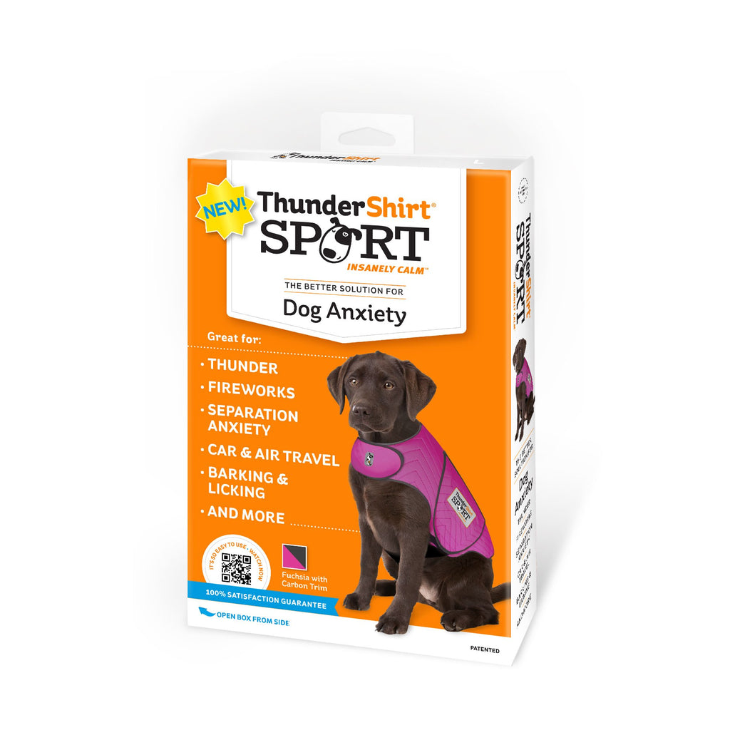 Thundershirt Sport Dog Anxiety Jacket, Fuchsia, Large
