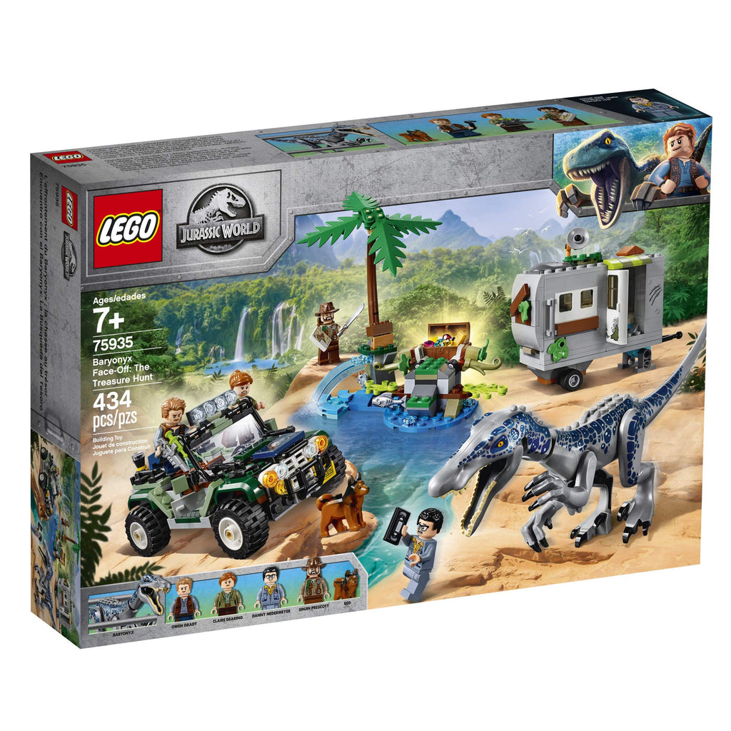 LEGO Jurassic World Baryonyx Face-Off: The Treasure Hunt 75935 Building Kit, New 2019 (434 Pieces)