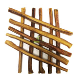 "Nature Gnaws Large Bully Sticks 11-12"" (10 Pack) - 100% All Natural Grass-Fed Free-Range Premium Beef Dog Chews"