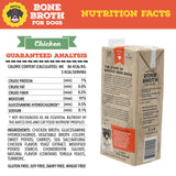 Brutus Bone Broth for Dogs | Chicken 2-Pack (64 oz) Made in USA | Glucosamine & Chondroitin | Healthy Dog Joints | Puppies