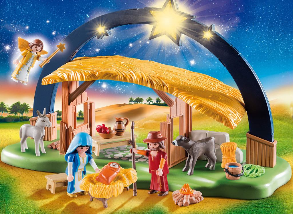 PLAYMOBIL Illuminating Nativity Manger