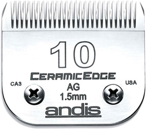 02022 - Andis(64315) Ceramic Clipper Blades AG/AGC/AGR/MBC Size 10