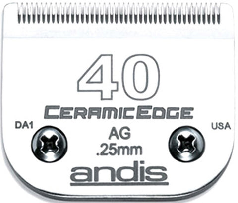 02028 - Andis(64265) Ceramic Clipper Blades AG/AGC/AGR/MBC Size 40