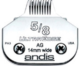 "02100 - Andis (64960) Steel Clipper Blades AG/AGC/AGR/MBG 5/8"" Toe Blade"