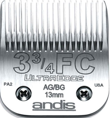 02108 - Andis (64135) Steel Clipper Blades AG/AGC/AGR/MBG Size 3F Finish