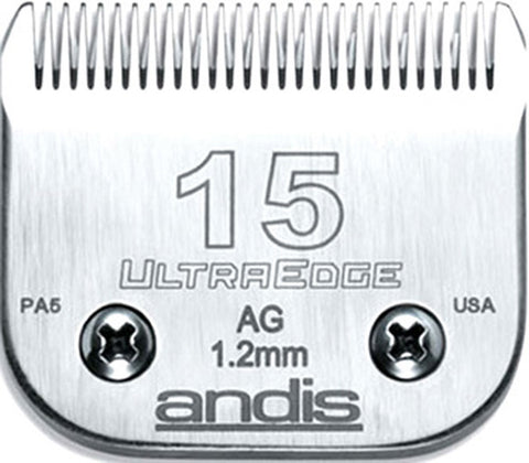 02134 - Andis (64072) Steel Clipper Blades AG/AGC/AGR/MBC Size 15