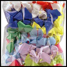 "Assorted Plain Bows, 5/8""wide (100 pack)"