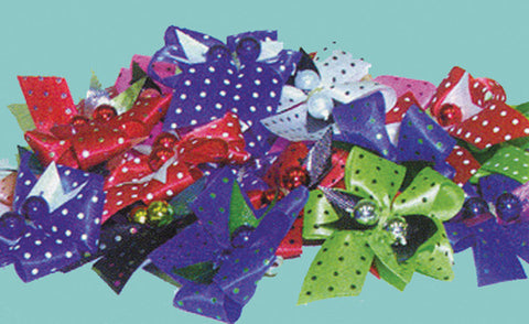 "Dots w/ Inlaid Ribbon & Beads, 5/8"" wide (50 pack)"