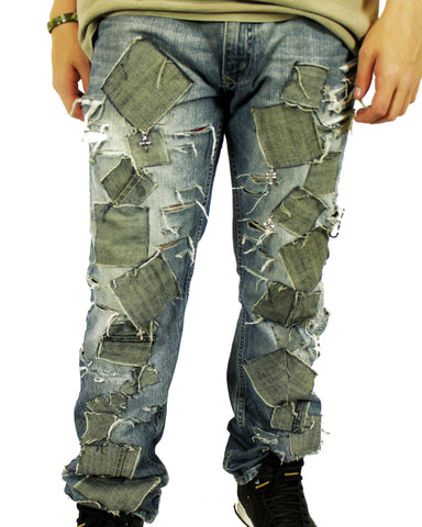 Damnaged Crucified Jeans