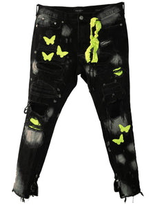 Butterfly Effect Distressed Jeans (Hi-Vis)