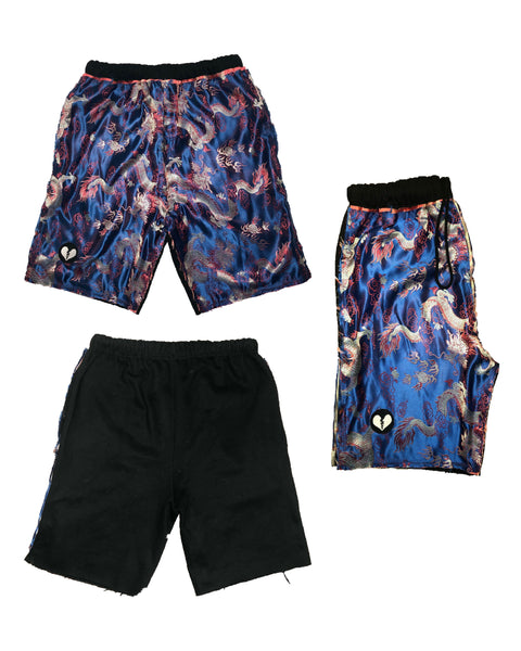 """Year of the Damned"" Men's Silk Sweat-Shorts"
