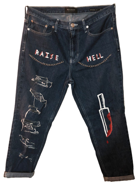DANAGED RAISE HELL JEANS