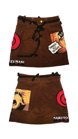 Damnaged Not Broken Naruto Corduroy Skirt