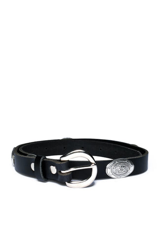Concho Leather Waist Belt