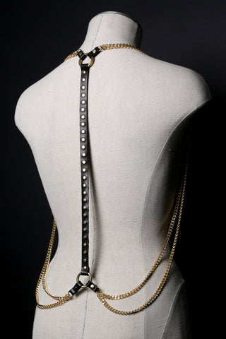 WHISPER Studded Chain Drape Harness