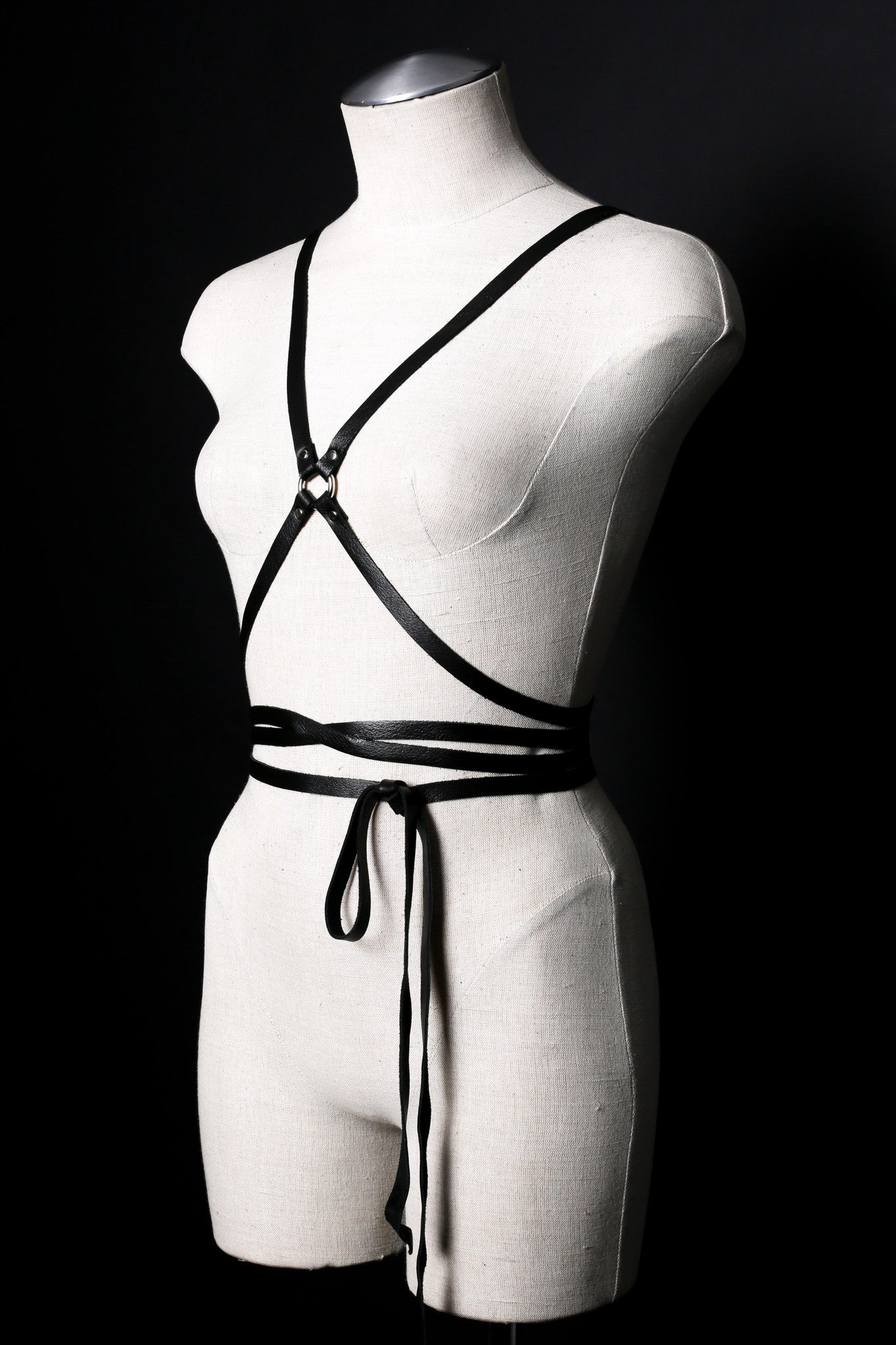 Infinity Leather Body Wrap Harness