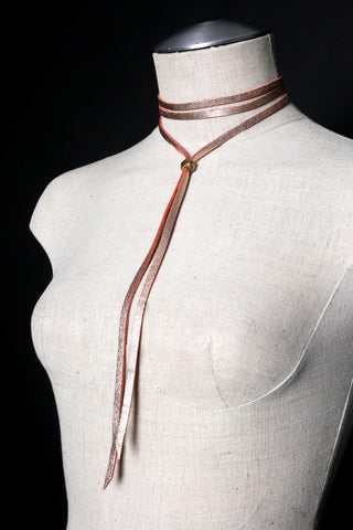 JESSIE Leather Tie Necklace