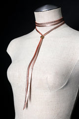 JESSIE Leather Tie Necklace - JAKIMAC  - 2