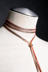 JESSIE Leather Tie Necklace - JAKIMAC  - 3