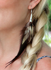 Boho Natural Feather Earrings