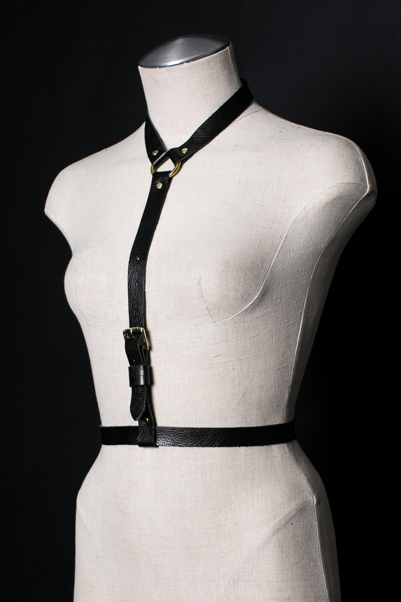 Dessa Leather Harness Belt - JAKIMAC  - 1