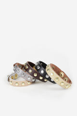 Sheena Studded Leather Bracelet - JAKIMAC  - 2